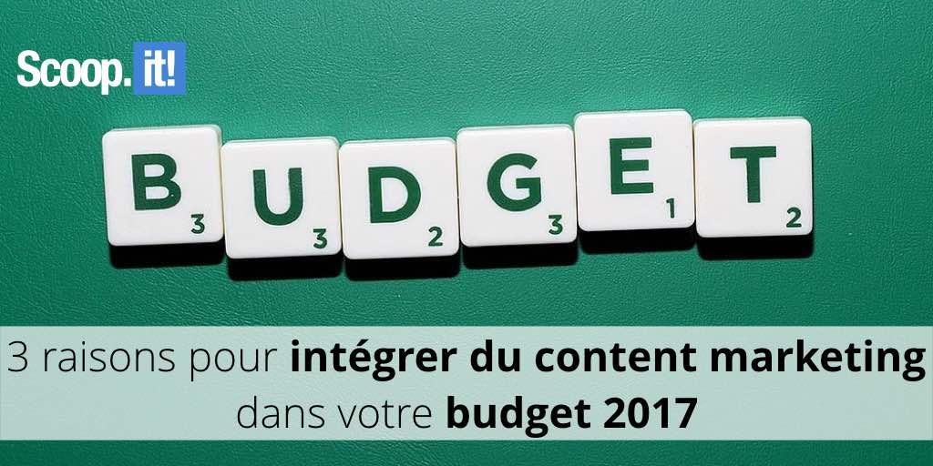 content marketing budget 2017