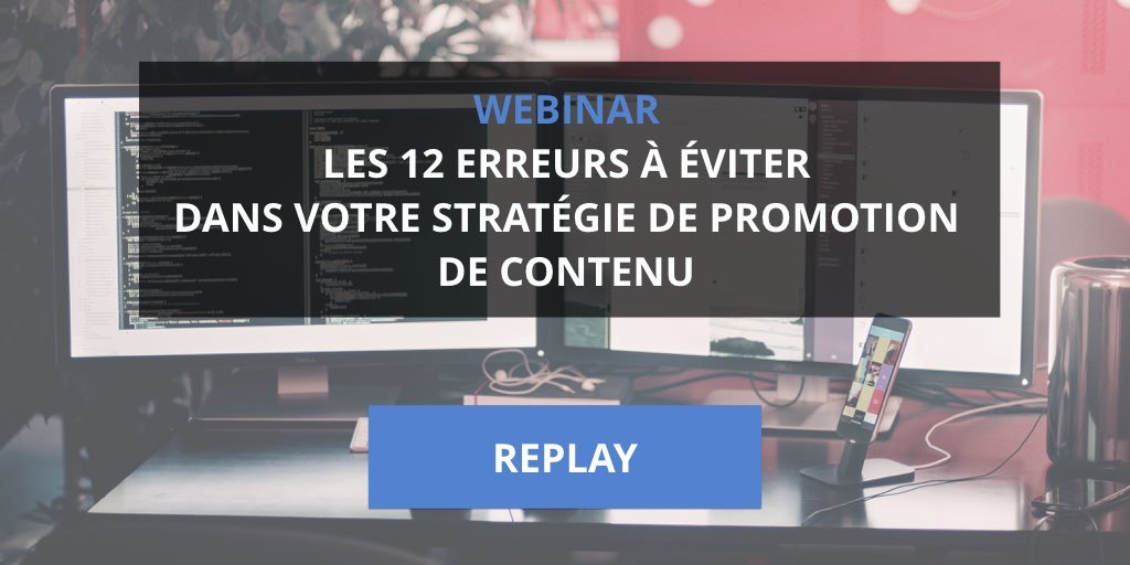 replay webinar promotion contenu
