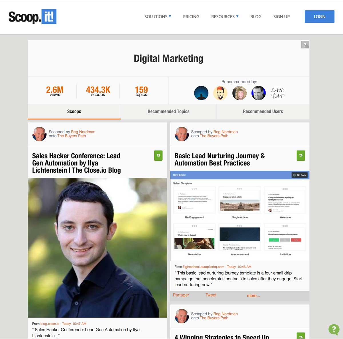 mini site account based marketing