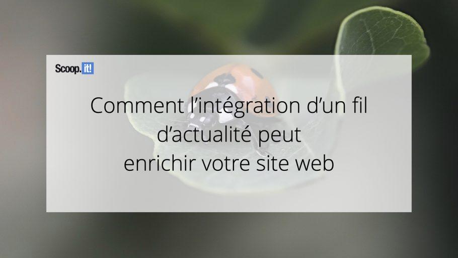 Comment l'intégration d'un fil d'actualités peut enrichir votre site web